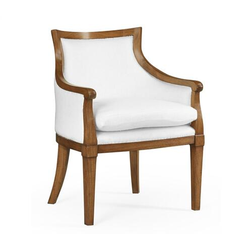 Belton Grey Fruitwood Arm Chair