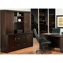 Contempo Office Credenza w/Hutch