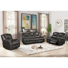 8086 GRAY 3PC Manual Recliner Air Leather Living Room SET