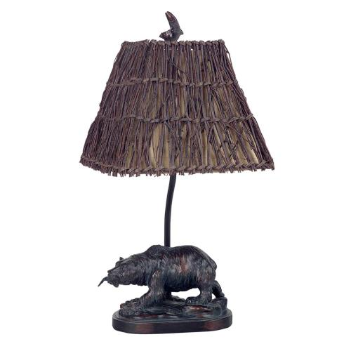 60W Resin Bear Accent Lamp
