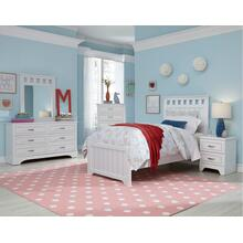 Twin Headboard, Dresser, Mirror *Footboard and rails special order only - *Footboard and rails special order only