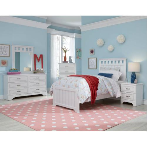 Twin Headboard, Dresser, Mirror, Chest *Footboard and rails special order only - *Footboard and rails special order only