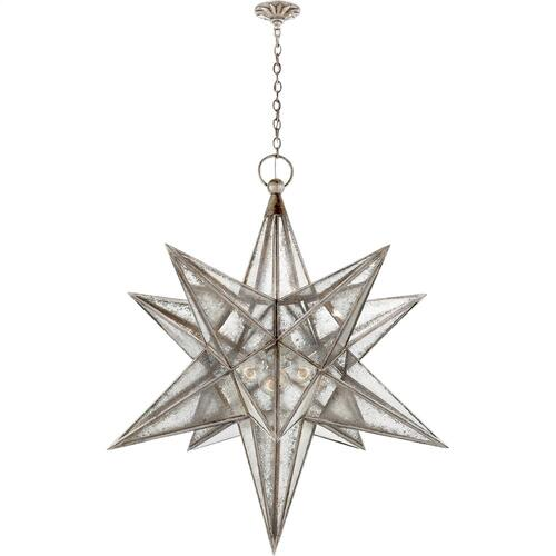 Visual Comfort CHC5213BSL-AM E. F. Chapman Moravian Star 3 Light 48 inch Burnished Silver Leaf Pendant Ceiling Light