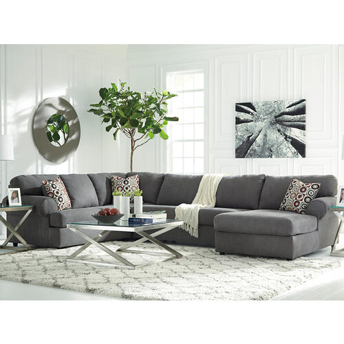 Signature Design by Ashley Jayceon 3-Piece Left Side Facing Sofa Sectional in Steel Fabric [FSD-6499SEC-3LAFS-STL-GG]