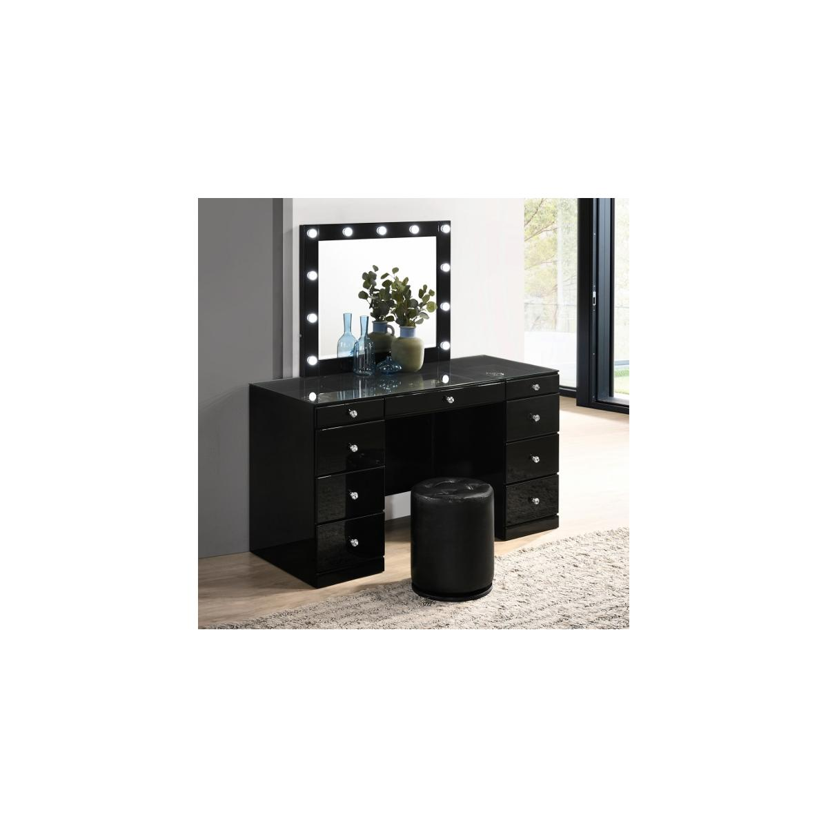 Avery Vanity Base Black