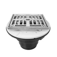 """See Details - 4"""" Square ABS Shower Drain"""
