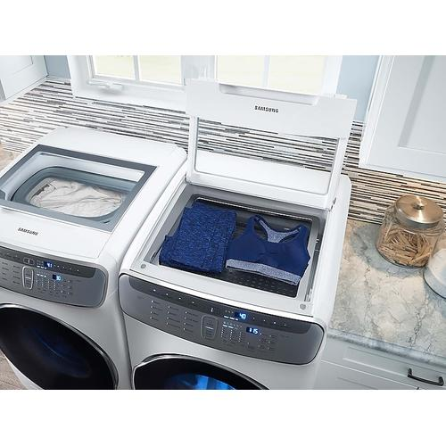 7.5 cu. ft. Smart Gas Dryer with FlexDry™ in White