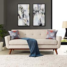 See Details - Engage Upholstered Fabric Loveseat in Beige