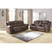 Stoneland Reclining Sofa & Console Loveseat Chocolate