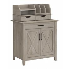 Key West Secretary Desk with Storage and Desktop Organizers - Washed Gray