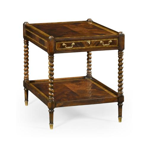 Regency style square side table (Mahogany)