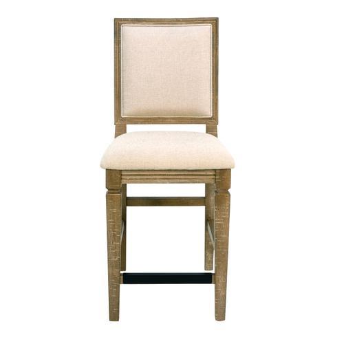 "Interlude II 24"" Upholstered Bar Stool, Sandstone Brown D561-24-05"