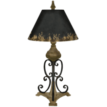 Distressed Scroll Table Lamp. 60W Max.