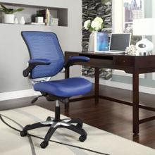 Edge Vinyl Office Chair in Blue