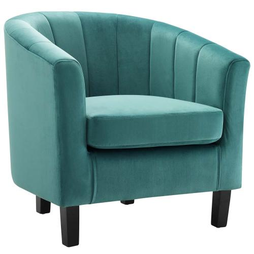 Modway - Prospect Channel Tufted Performance Velvet Armchair in Teal
