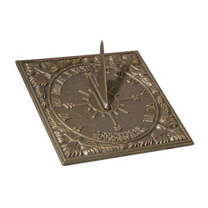 Small Sunny Hours Sundial - French Bronze Product Image