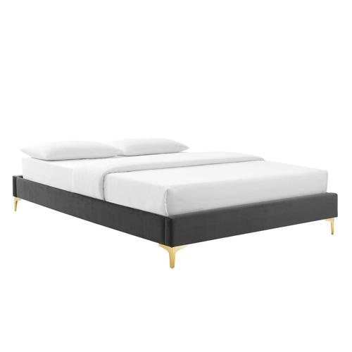 Sutton King Performance Velvet Bed Frame in Charcoal