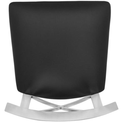 Zoey 35'' H Stainless Steel Cross Back Counter Stool - Black / Chrome