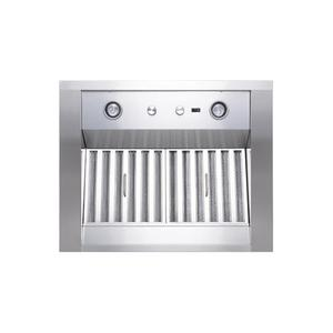 "WP28 - 30"" Stainless Steel Pro-Style Range Hood with 300 to 1650 Max CFM internal/external blower options"