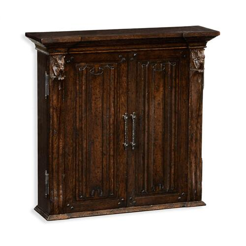 Dartboard Tudor Oak Cabinet