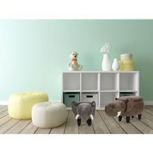 "See Details - Critter Sitters Plush Brown Elephant Storage Animal Ottoman Furniture for Nursery, Bedroom, Playroom & Living Room Decor, 15"" Seat Height, CSELESTOTT-BRN"