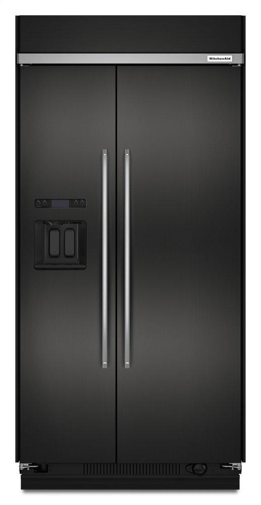 Kitchenaid29.5 Cu. Ft 48-Inch Width Built-In Side By Side Refrigerator With Printshield™ Finish - Black Stainless Steel With Printshield™ Finish
