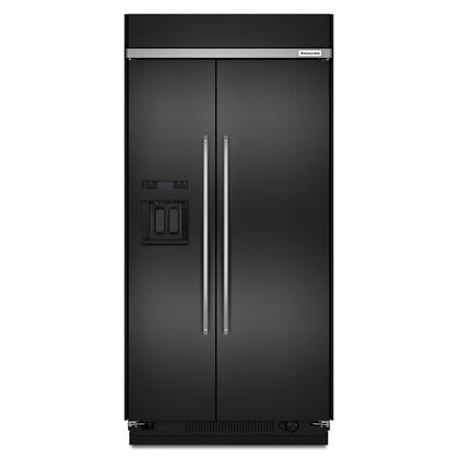 29.5 cu. ft 48-Inch Width Built-In Side by Side Refrigerator with PrintShield™ Finish - Black Stainless Steel with PrintShield™ Finish