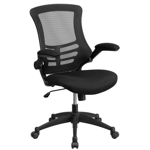 Gallery - Work From Home Kit - Glass Desk with Keyboard Tray, Ergonomic Mesh Office Chair and Filing Cabinet with Lock & Side Handles