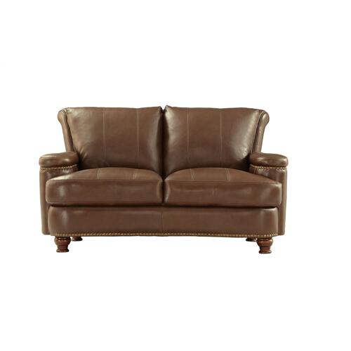 Leather Italia USA - 2493 Hutton Loveseat T27 Brown