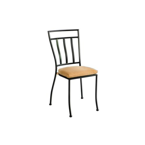 Semplice Stackable Iron Bistro Chair, Cush Incl