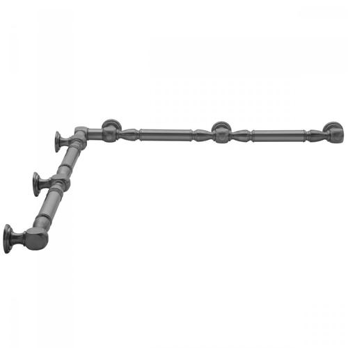 "Unlacquered Brass - G20 48"" x 60"" Inside Corner Grab Bar"