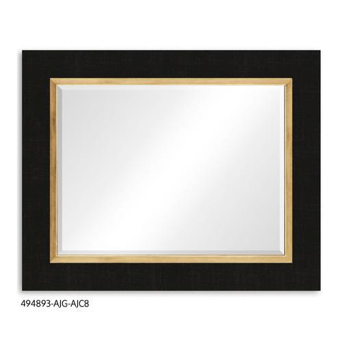 """Homespun"" mirror (Charcoal/Gold)"