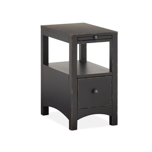 Magnussen Home - Chairside End Table - Weathered Midnight