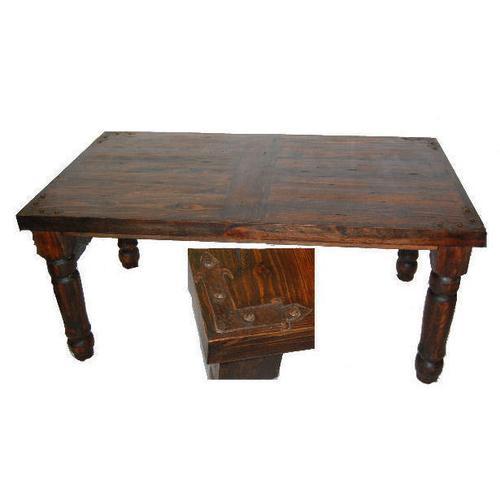 Dark Metal Corner 6 Ft Table