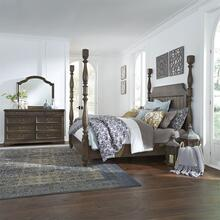 King Poster Bed, Dresser & Mirror