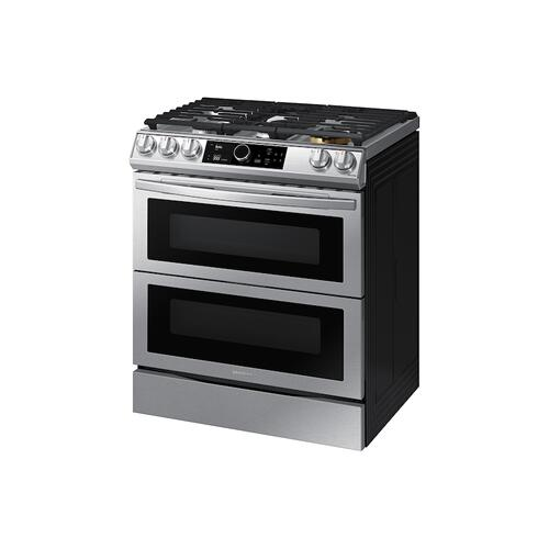 6.0 cu. ft. Flex Duo™ Front Control Slide-in Gas Range with Smart Dial, Air Fry & Wi-Fi in Stainless Steel