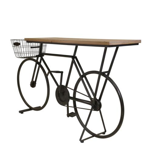 Bicycle Console Table, Charcoal