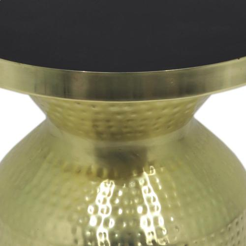 New Pacific Direct - Emrie Side/ End Table, Shiny Brass/Black