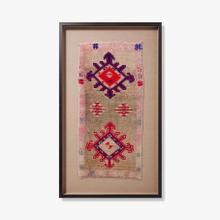 0351760020 Vintage Turkish Rug Wall Art
