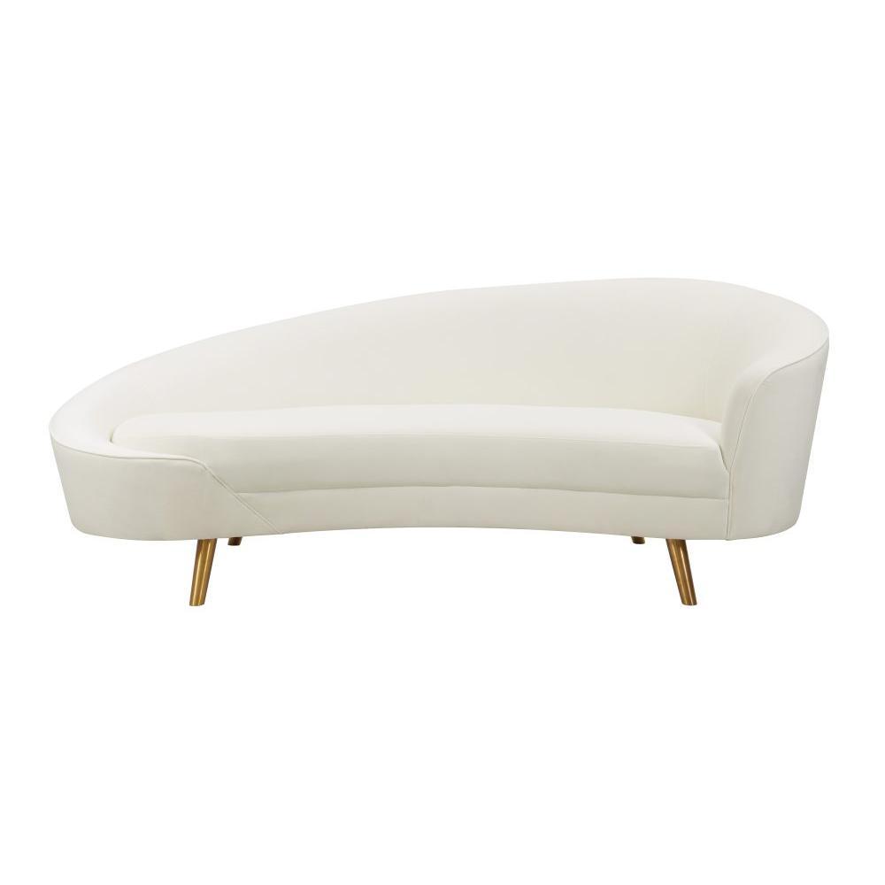 Cleopatra Cream Velvet Sofa