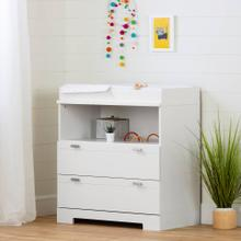 Changing Table with Storage - Pure White
