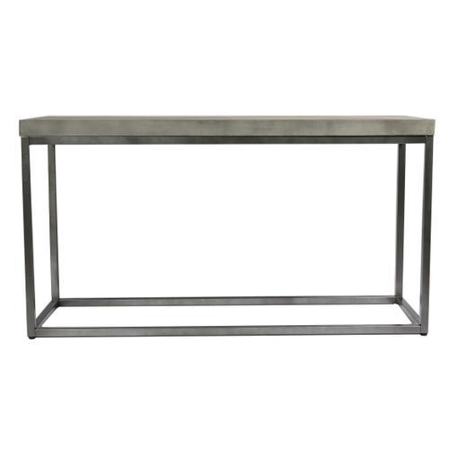 Onyx Sofa Table, Aged Concrete T375-02