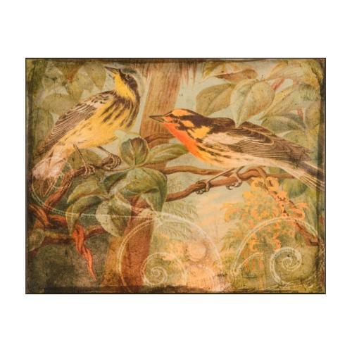 The Ashton Company - Songbirds & Scrollwork I- 24x30