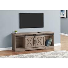 """TV STAND - 60""""L / DARK TAUPE WITH 2 SLIDING DOORS"""