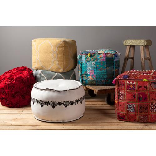 """Gallery - Felted Floral POUF-27 14""""H x 18""""W x 18""""D"""