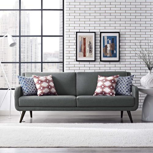 Verve Upholstered Fabric Sofa in Gray