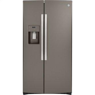 GE 21.8 Cu. Ft. Counter-Depth Side-By-Side Refrigerator Slate - GZS22IMNES