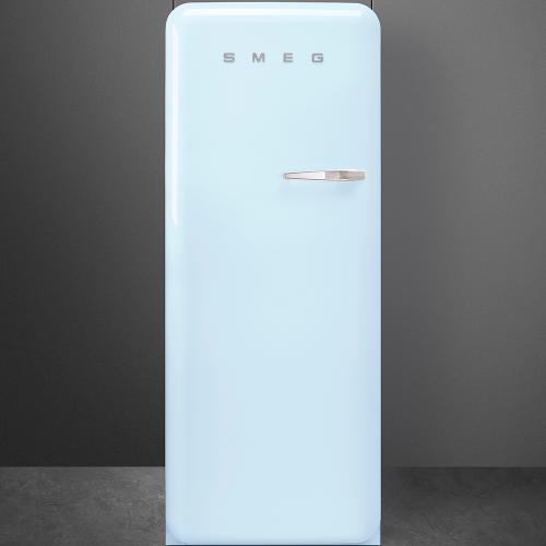 """Approx 24"""" 50'S Style Refrigerator with ice compartment, Pastel blue, Left hand hinge"""