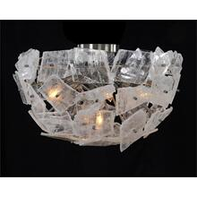 Moonlight Sonata: Selenite Pane Five-Light Semiflush Chandelier