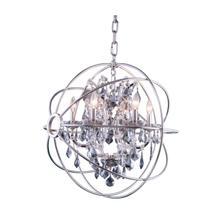 View Product - Geneva 6 light Polished nickel Chandelier Silver Shade (Grey) Royal Cut crystal